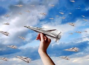 Offline-Marketing-Soaring-Paper-Airplanes