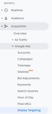 Google-Analytics-Display-Targeting-Report-Navigation