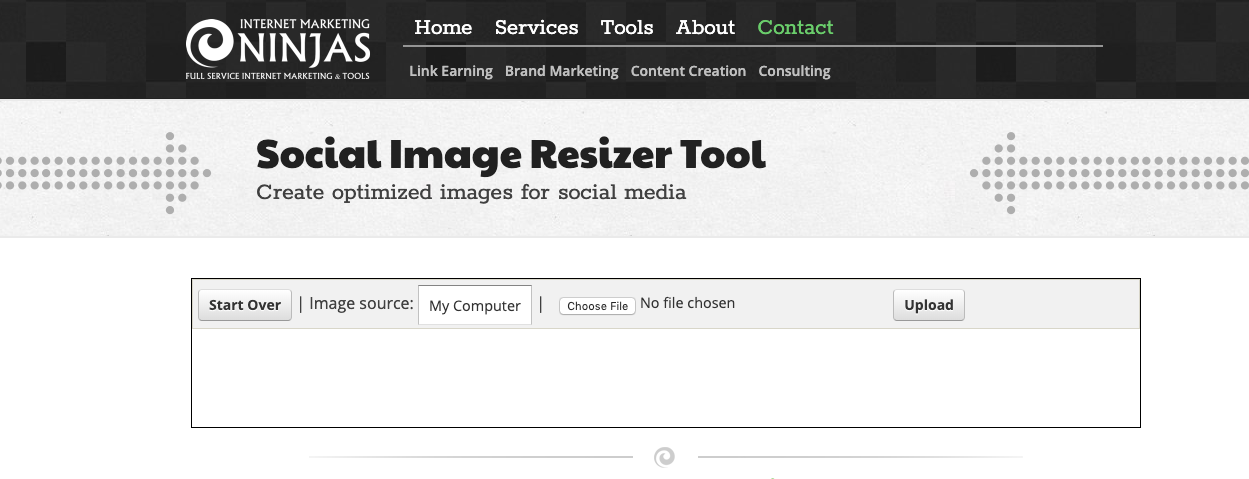 IMN-Social-Resize-tool-Home-page
